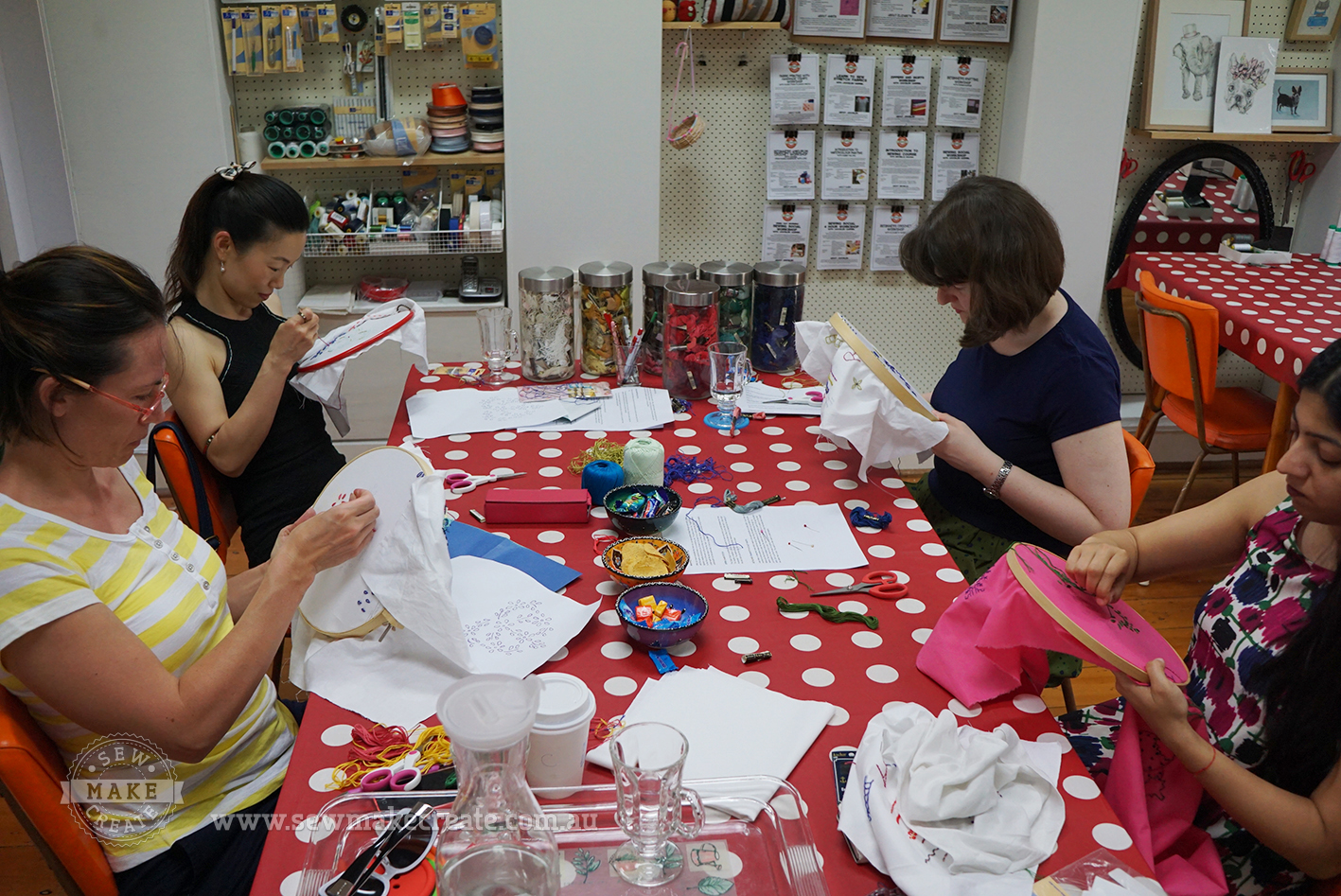 Beginners Hand Embroidery Class In Sydney