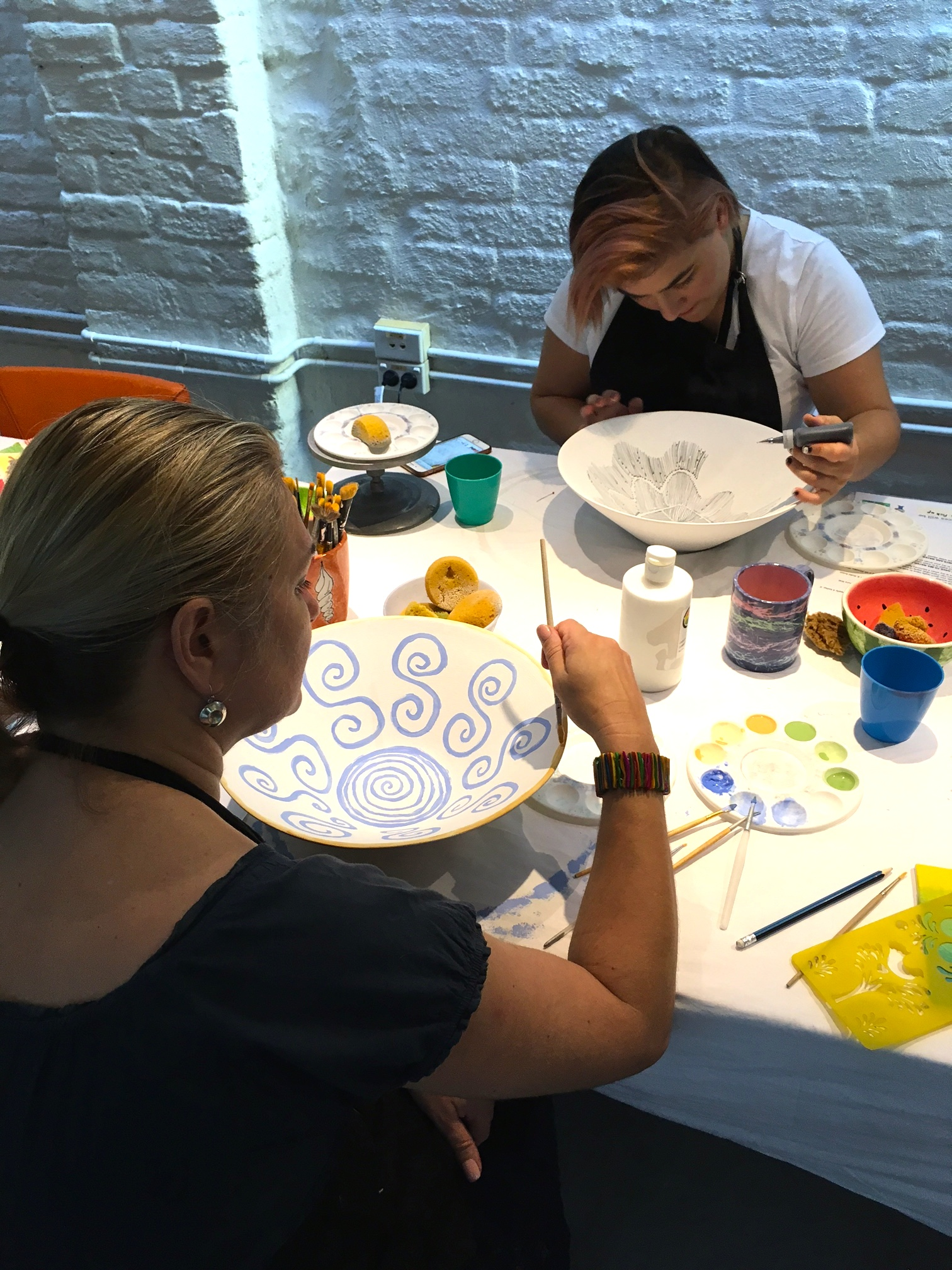 Ceramic painting workshop in sydney for Ceramic mural making