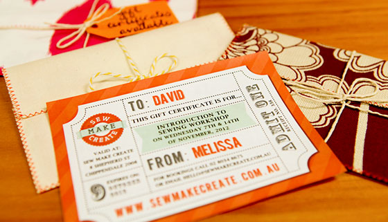 gift certificates sew make create