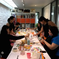 Family Ceramic Painting Craft Workshop in Sydney