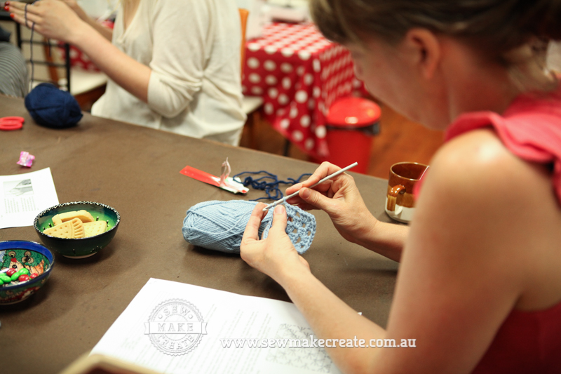 Crocheting Lessons : ... crocheting.? - Kelley attend the Beginner?s Crochet Workshop