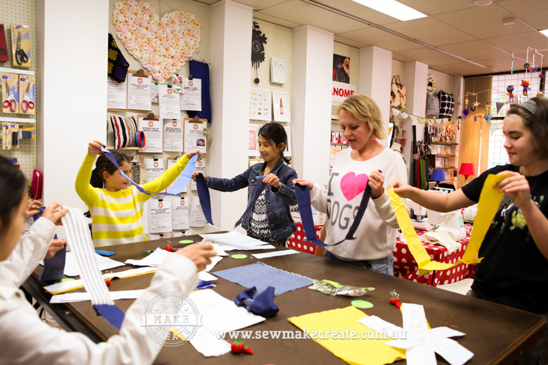 Kids Teens School Holidays Sewing Lessons Classes Workshops